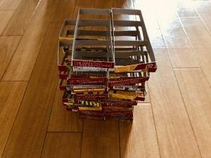 【高齢者(在宅介護)レクリエーション】ナビスコリッツの空き箱を使って『30個積み上げゲーム2』