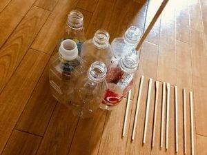 【高齢者室内レクリエーション・ゲーム(Recreation for the elderly)】割り箸を使って『6本ペットボトルダーツゲーム』に挑戦してみた
