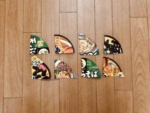 【高齢者室内レクリエーション・ゲーム(game for elderly)】カップ麺のふたを使って『2枚手作りパズル』