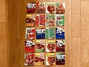 【高齢者(シニア)向け無料手作りジグソーパズル】レトルトカレーの空き箱・カップ麺のふたを使用