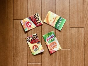 【高齢者・子供室内レクリエーション】味の素クノールカップスープコーンクリームの空き箱を使って『手作りジクソーパズルゲーム』