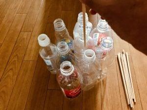 【高齢者・子供向け室内レクリエーション】割り箸を使って『9本ペットボトルダーツゲーム』