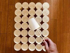 【高齢者・子供向け室内レクリエーション】割り箸を使って『35個紙コップすくいゲーム』