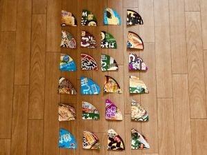 【高齢者・子供向け室内レクリエーション】カップ麺のふたをハサミで切って『6枚手作りジグソーパズルゲーム』
